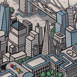 East Coast vs West Coast eBay Mural