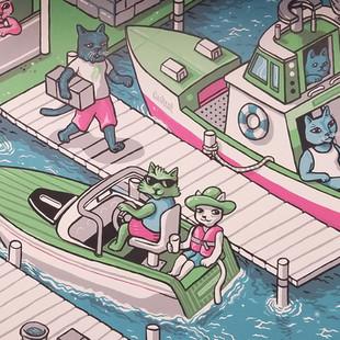 Robinhood Cats - Florida Murals