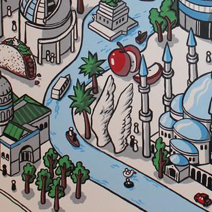 eBay World Cafe Mural