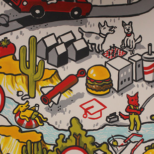 Retail Technology Playroom Mural
