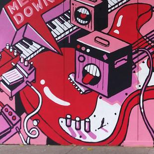 Pink Guitar Mural