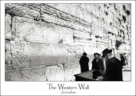 The Western Wall B&W