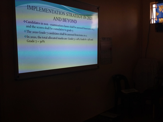 The Implementation of School Based Assessments (Grades 5 to 7)