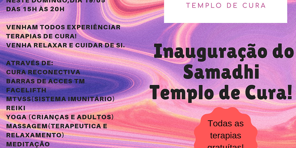 Open Day Samadhi Tempo de Cura