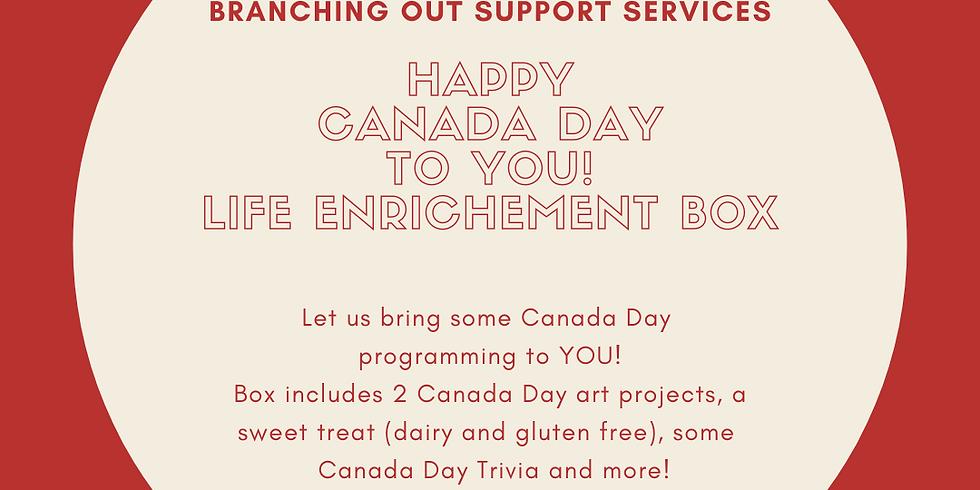 July 1 CANADA DAY Life Enrichment Box