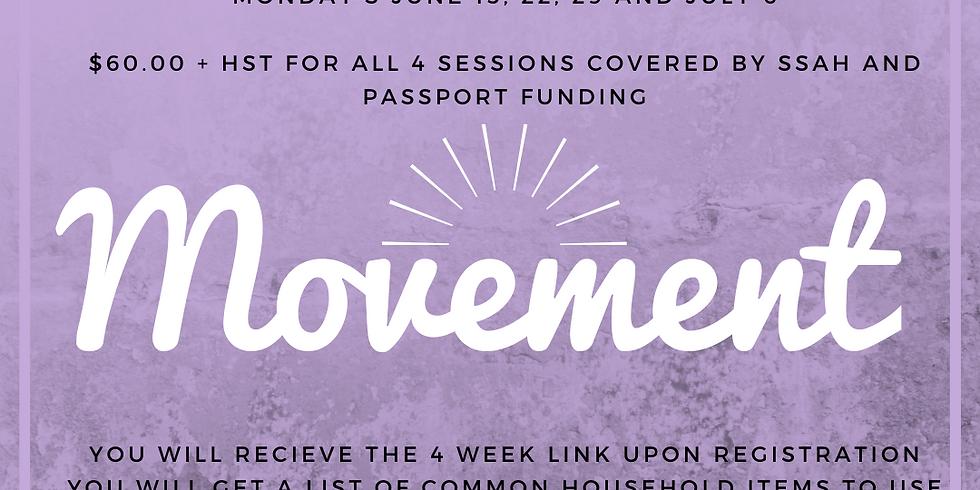 Creative Movement Classes LIVE on Monday's