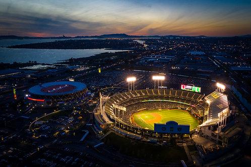 Oakland A's Sunset