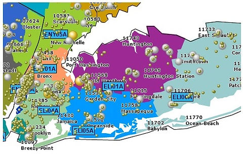 Territory alignment view - NY area (for