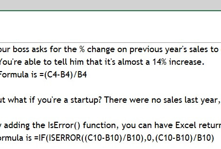 MS Excel's IsError() function
