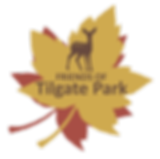 Friends of Tilgate Park logo, deer, leaf, graphic, design, nature, wildlife