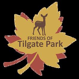 Friends of Tilgate Park logo, deer, leaf, graphic, design, nature, wildlife