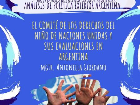 APEA 33: El Comité de los Derechos del Niño de Naciones Unidas y sus evaluaciones en Argentina