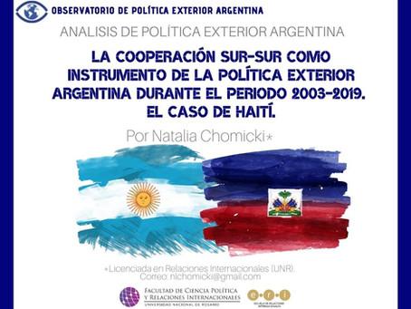 APEA 40: La cooperación sur-sur como instrumento de la política exterior argentina - Haití