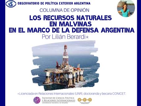 Los recursos naturales en Malvinas en el marco de la defensa argentina
