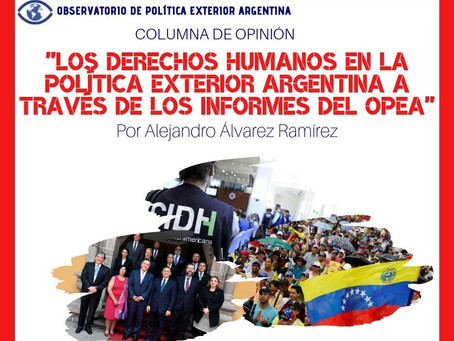 Los Derechos Humanos en la Política Exterior Argentina a través de los Informes del OPEA