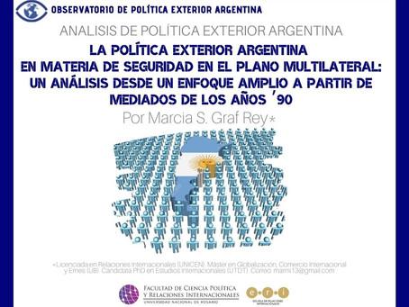 APEA 39: La política exterior argentina en materia de seguridad en el plano multilateral