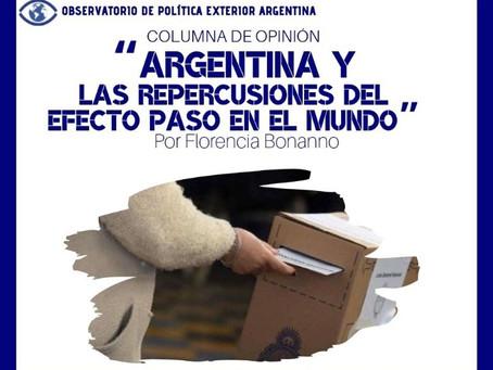 Argentina y las repercusiones del efecto PASO en el mundo
