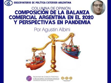 Composición de la balanza comercial argentina en el 2020 y perspectivas en pandemia
