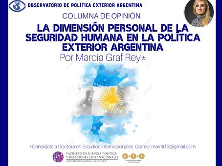 La dimensión personal de la seguridad humana en la Política Exterior Argentina