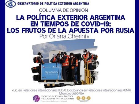 La Política Exterior Argentina en tiempos de COVID-19: los frutos de la apuesta por Rusia