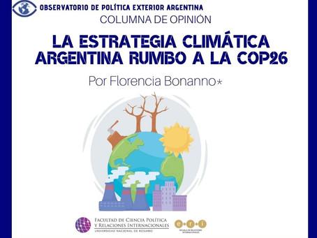 La estrategia climática argentina rumbo a la COP26