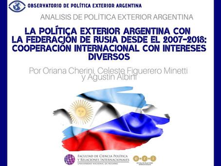 APEA 35: La Política Exterior Argentina con la Federación de Rusia desde el 2007-2018