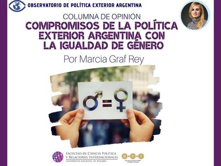 Compromisos de la política exterior argentina con la igualdad de género