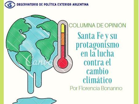 Santa Fe y su protagonismo en la lucha contra el cambio climático