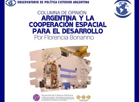 Argentina y la cooperación espacial para el desarrollo