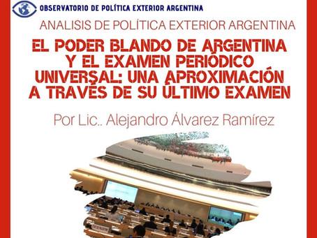 APEA 34: El poder blando de Argentina y el Examen Periódico Universal: una aproximación...
