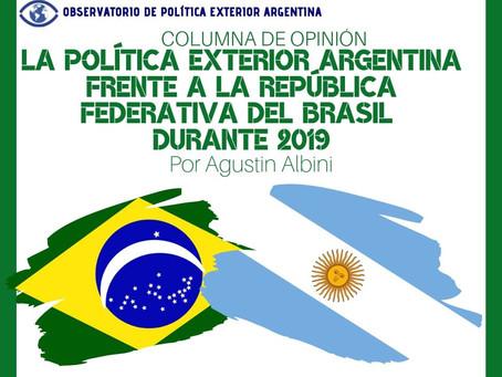 La política exterior argentina frente a la República Federativa del Brasil durante 2019
