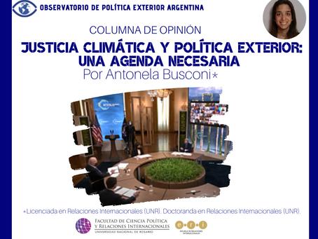Justicia climática y política exterior: una agenda necesaria