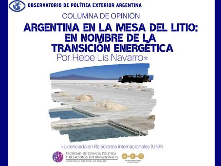 Argentina en la mesa del litio: en nombre de la transición energética
