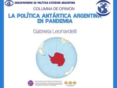 La Política Antártica Argentina en pandemia