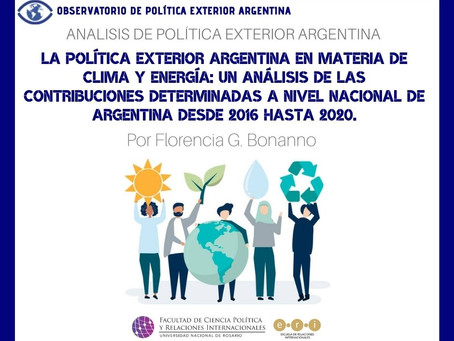 APEA 38: La Política Exterior Argentina en materia de clima y energía