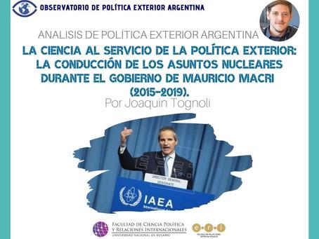 APEA 37- La ciencia al servicio de la PE: la conducción de los asuntos nucleares (2015-2019)