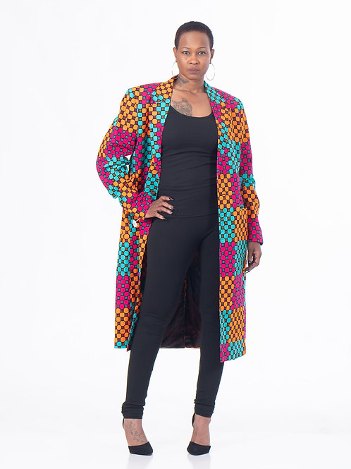 Midi Ankara Duster Jacket