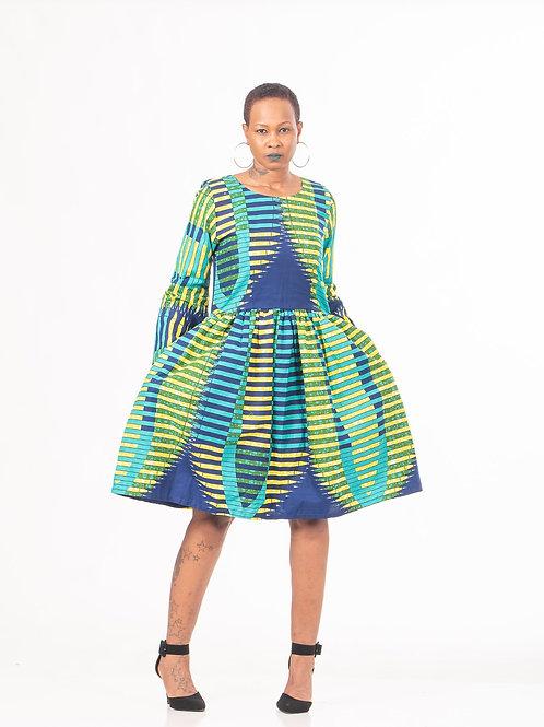 Knee length Aline dress with Pockets