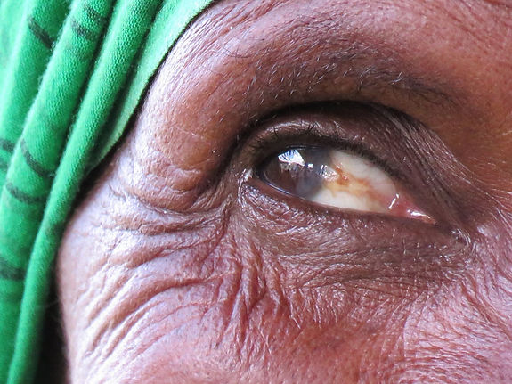 Ethiopian grandmother'e eye