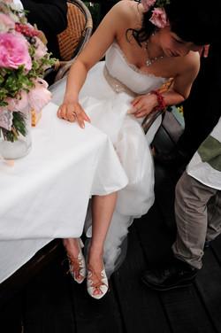 peep-toe shoes for wedding