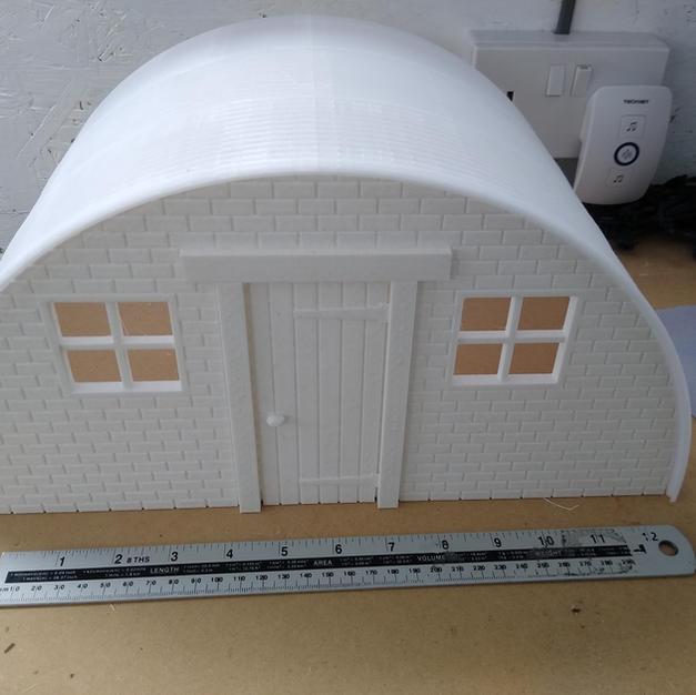 Tin Hut - Brick Front Panel