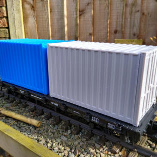 Short Container for Flat Car