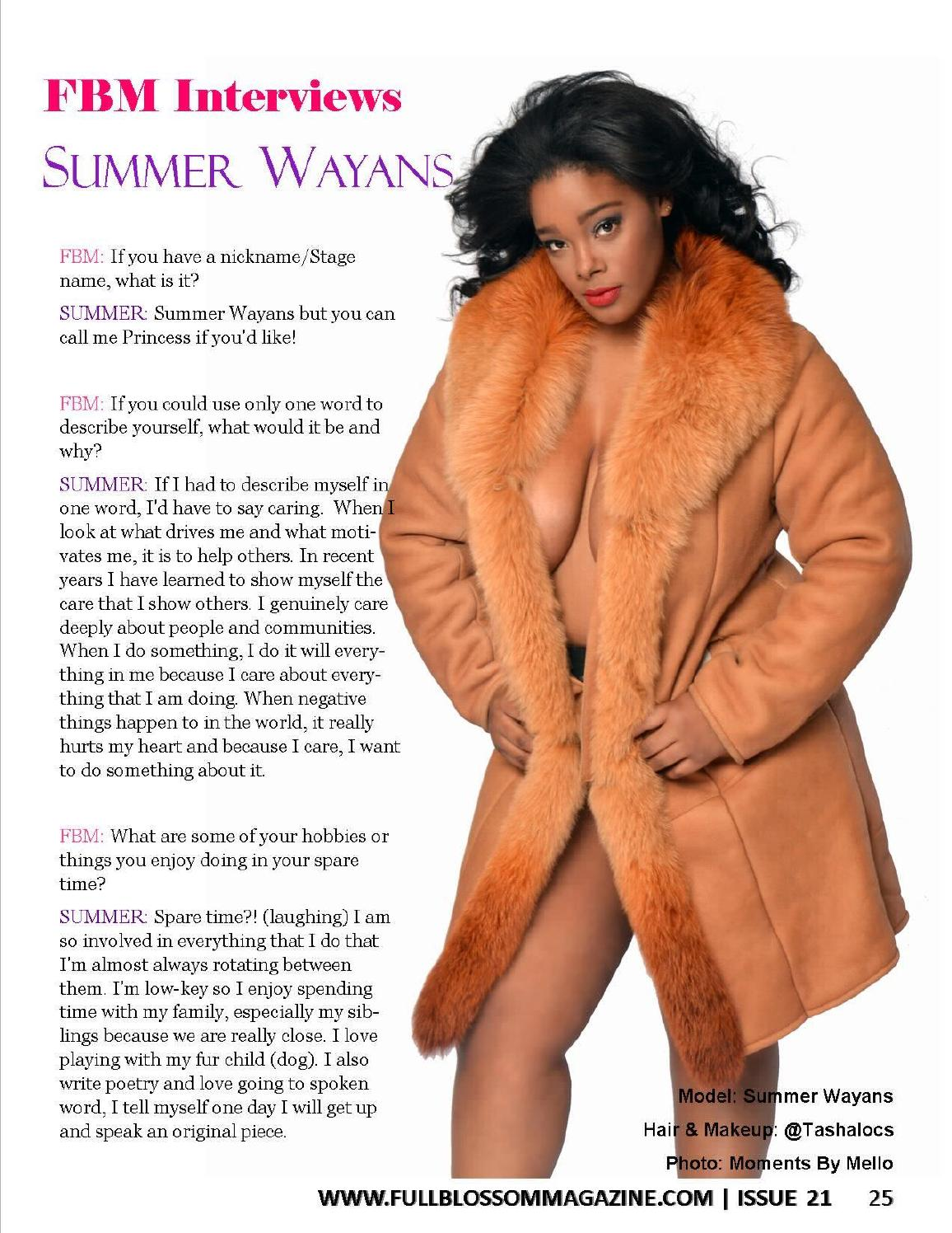 Summer Wayans Model Actress Philanth