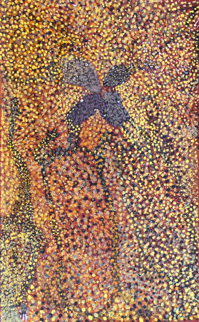 Wati Ngintaka - Perentie Lizard Man   Reggie Uluru