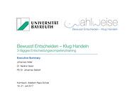 Projektbericht KLUG-entscheiden