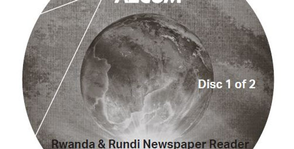 Rwanda and Rundi Newspaper Reader - Audio CD