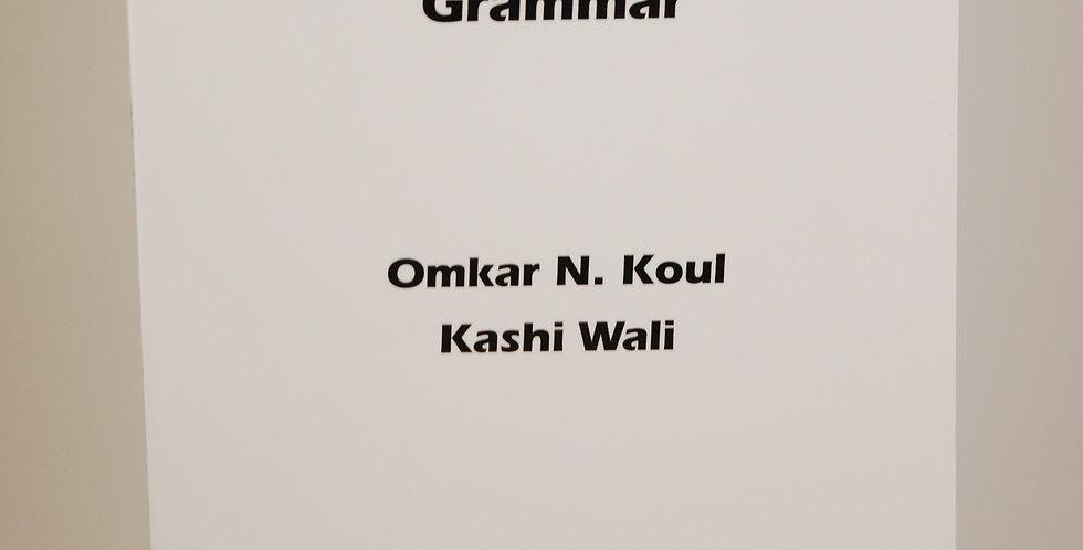 Modern Kashmiri Grammar