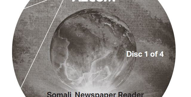 Somali Newspaper Reader - Audio CD