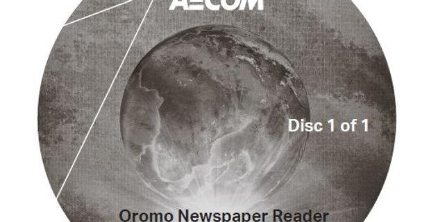 Oromo Newspaper Reader - Audio CD