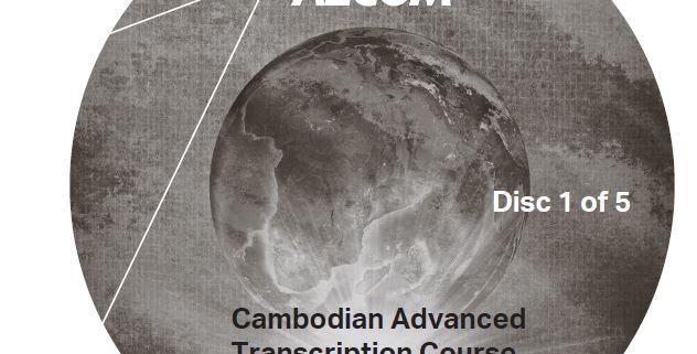 Cambodian Advanced Transcription Course - Audio CD